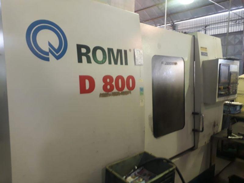 Centro de Usinagem Vertical ROMI D800